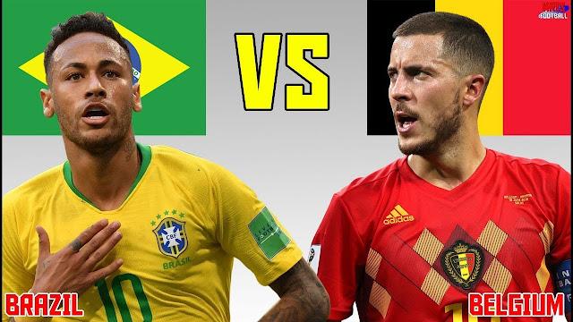 belgium vs brazil match- 2018