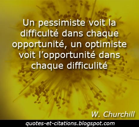 citation optimiste pessimiste