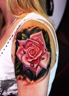 tato mawar tengkorak