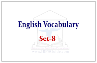 English Vocabulary Set-8 (with meaning and example)