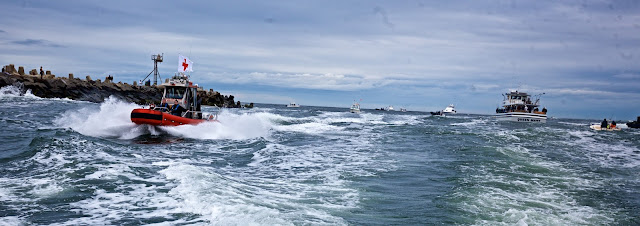 Returning through Manasquan Inlet after the race