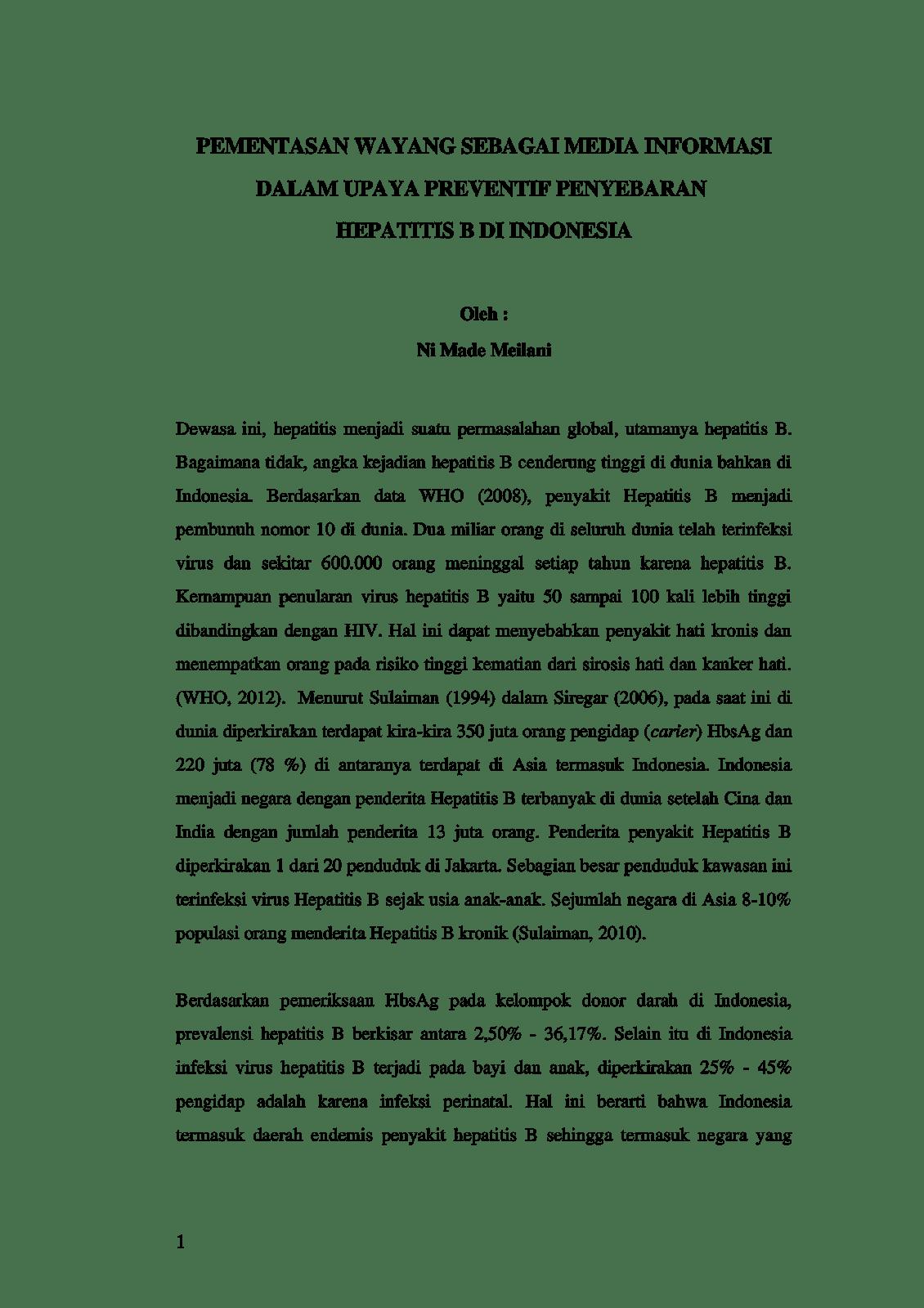 Contoh Esai Ilmiah Wood Scribd Indo