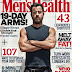JUSTIN THEROUX COVERS 'MEN'S HEALTH' UK TALKS ABOUT HIS BULGE