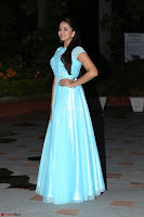 Pujita Ponnada in transparent sky blue dress at Darshakudu pre release ~  Exclusive Celebrities Galleries 075.JPG