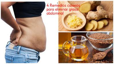 4 Remedios caseros para eliminar grasa abdominal de manera ...