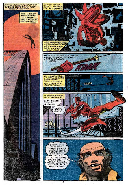 Daredevil v1 #170 marvel comic book page art by Frank Miller