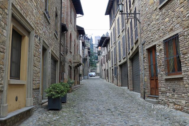 Calles de Castell'Arquato, Piacenza, Italia
