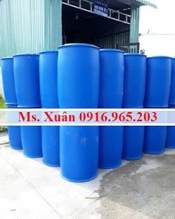 Bán phuy nhựa đựng hóa chất 220L giá rẻ