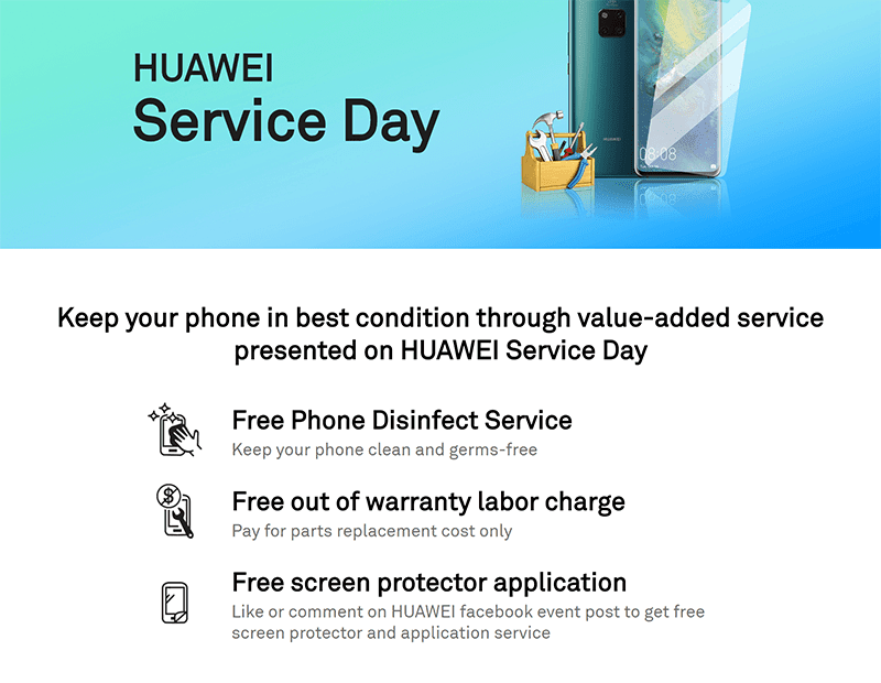 Huawei Service Day details