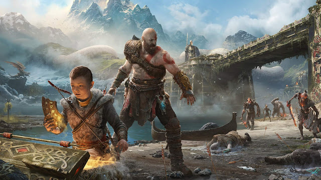 Papel de parede Kratos e Atreus God of War para PC, Notebook, iPhone, Android e Tablet.