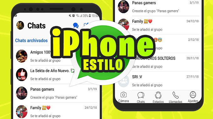 WHATSAPP ESTILO IPHONE X 2019 (ACTUALIZADO) PARA ANDROID