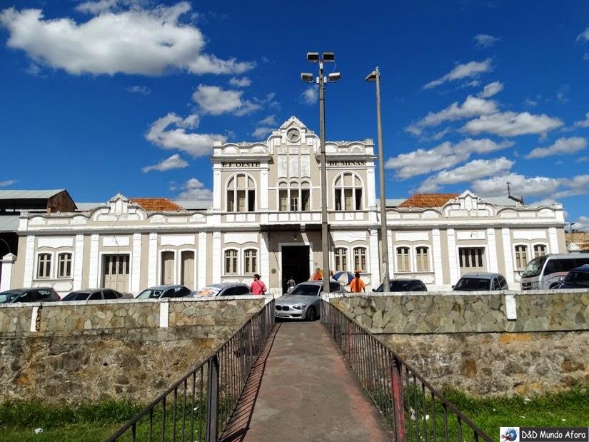 Estação em São João del Rei - Passeio de Maria Fumaça até Tiradentes