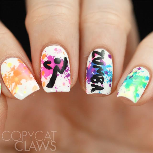 Zumba Nail Art