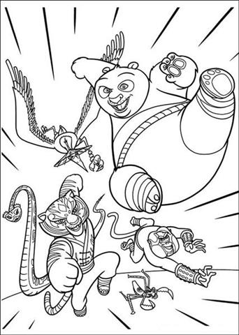 Kung Fu Panda Coloring Pages | Team colors