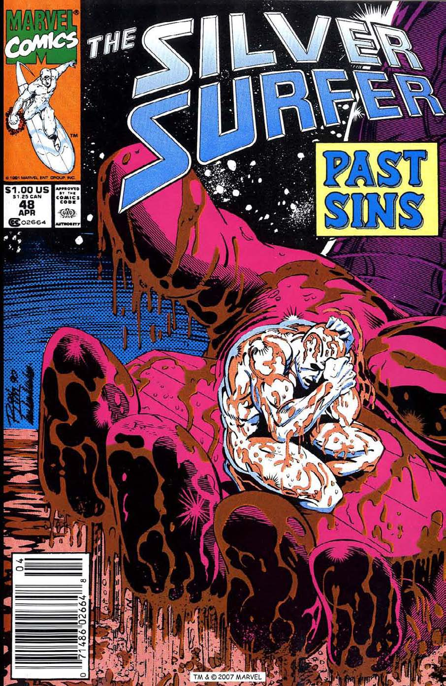 Read online Silver Surfer (1987) comic -  Issue #48 - 1