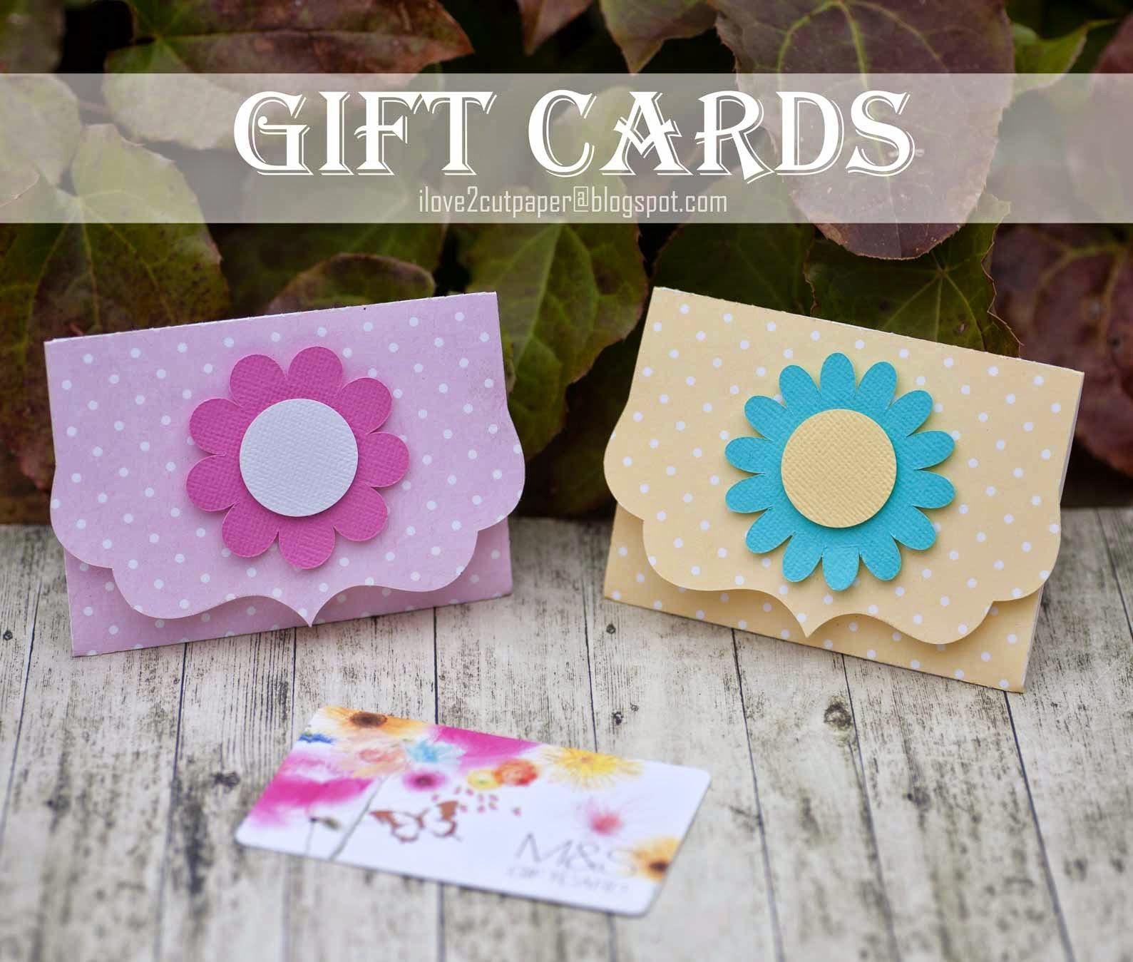 I Love 2 Cut Paper Gift Card Holders