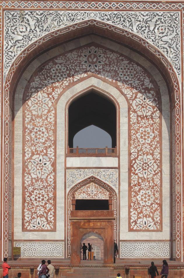 Entrance to Akbar's Tomb at Sikandra, Agra, India