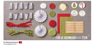 Ideen für Resteverwertung für Schmuckrosetten aus dem Stampin' Up! Set Weihnachtsfreude Minikatalog 2017 von unabhängiger Demonstratorin in Coburg (Susis Basteltipps)
