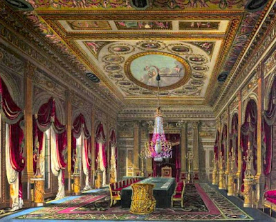 Throne Room, Carlton House, from The History of the Royal Residences by WH Pyne (1819)