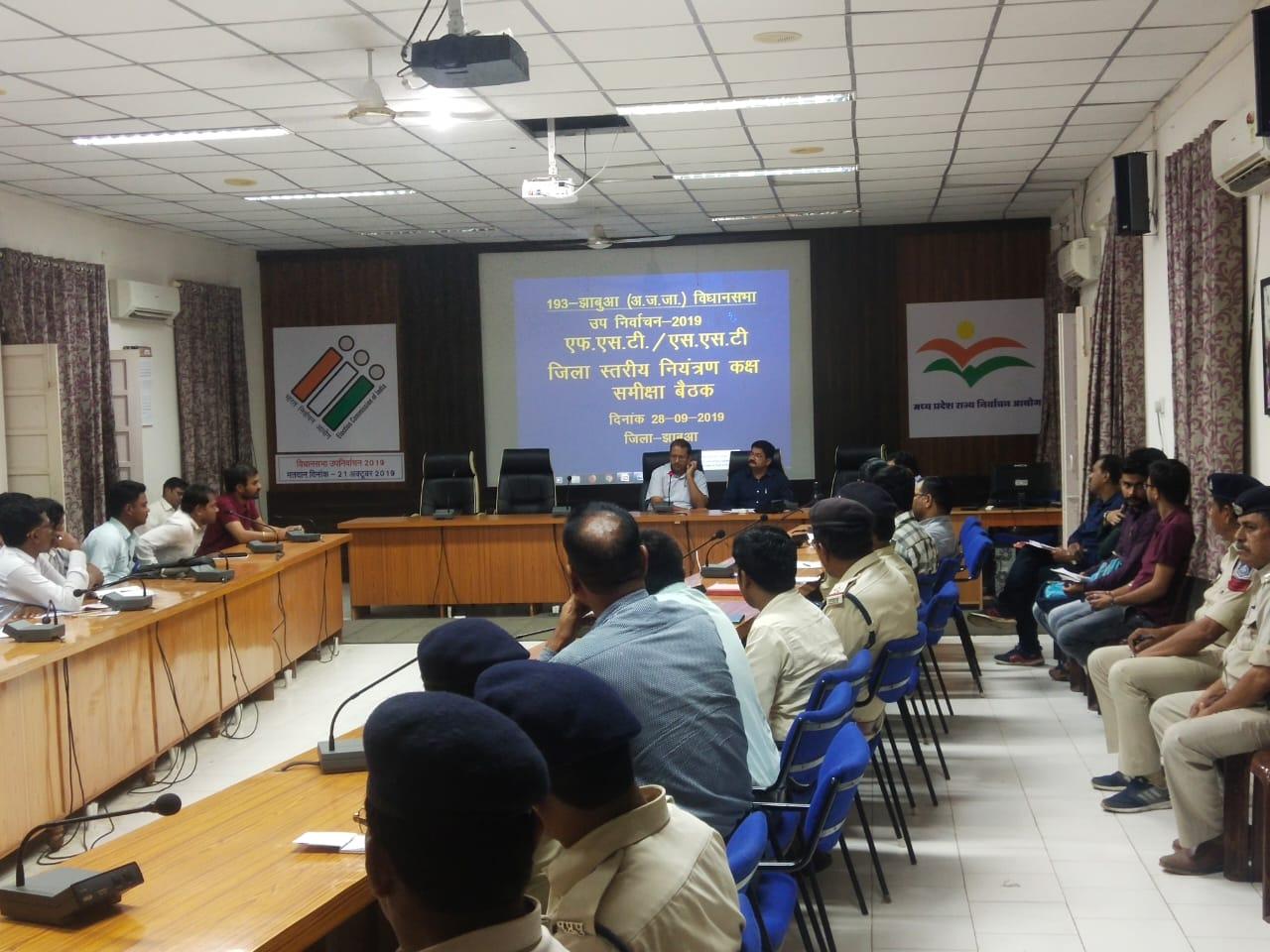 Jhabua News-फ्लाइंग स्काॅट एवं एसएसटी दल की समीक्षा बैठक सम्पन्न