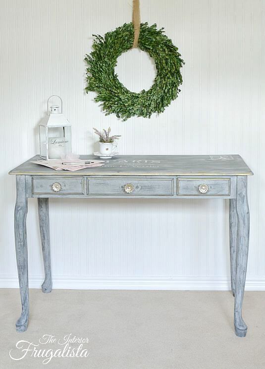 9 Creative Desk Makeovers - Queen Anne Writing Desk