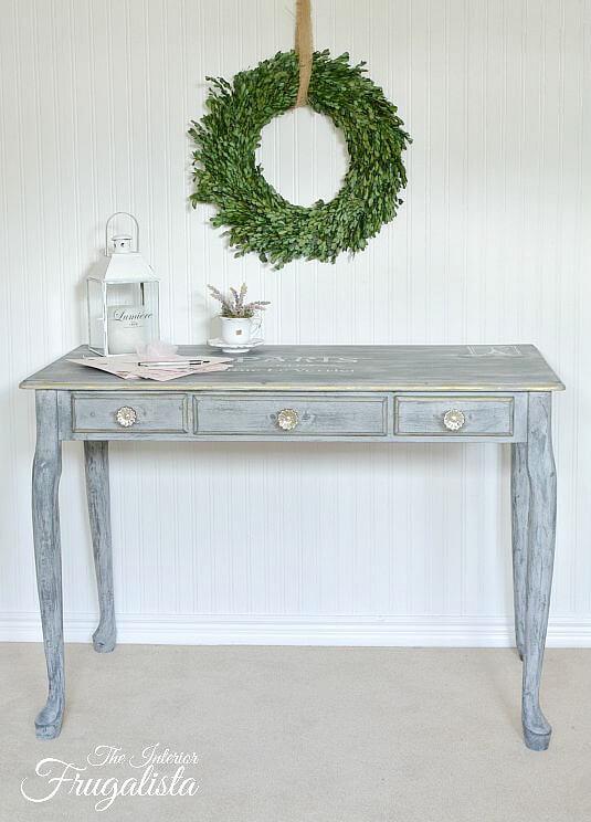 9 Creative Desk Makeovers - Queen Anne Writing Desk