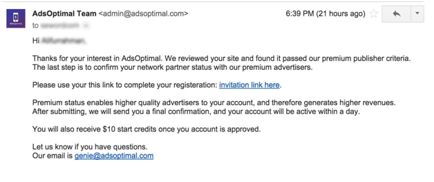 adsoptimal email