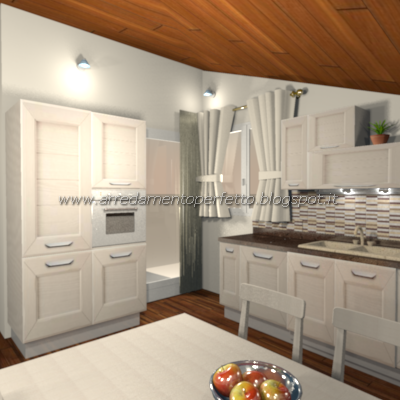 Consigli d\'arredo: La cucina soggiorno in mansarda in stile classico ...