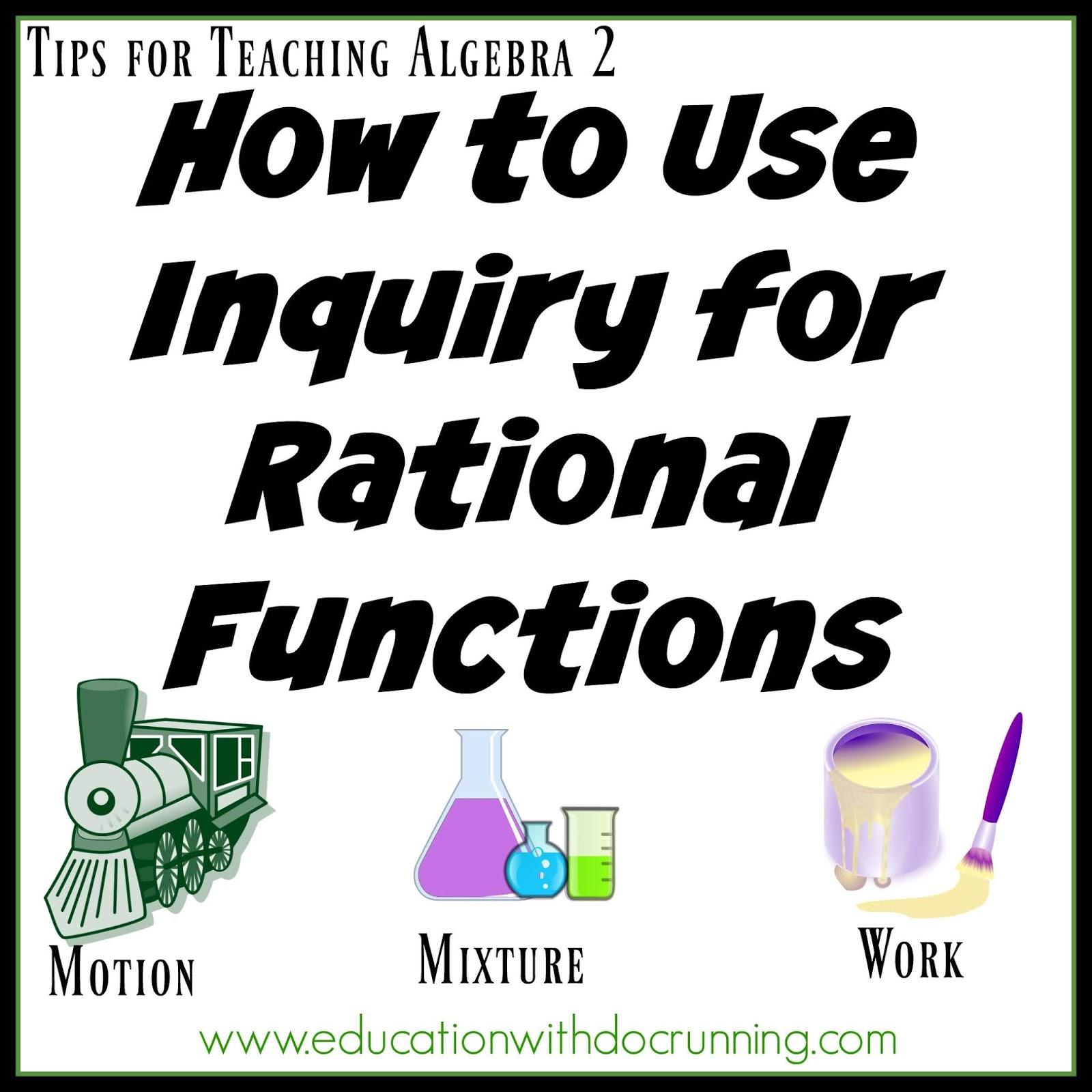 Math Mondays: Teaching Work, Motion and Mixture Problems
