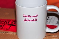 Künstlerkaffeetasse Rechts...