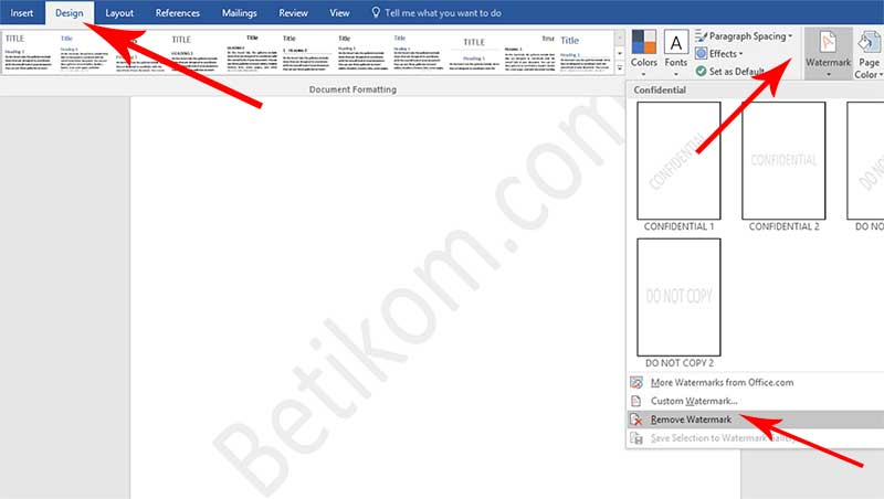 Cara Menghilangkan Watermark di Word: Logo Gambar serta