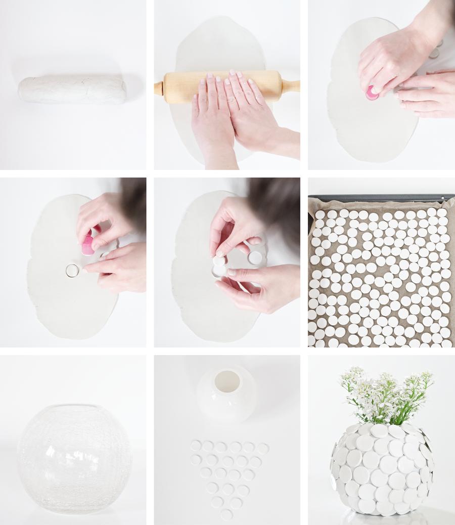 wiesoeigentlichnicht diy alte vasen aufpeppen mit modelliermasse. Black Bedroom Furniture Sets. Home Design Ideas
