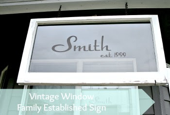 Vintage Window Family Sign
