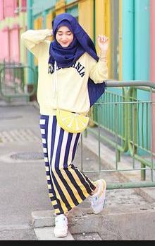 contoh model baju dian pelangi casual