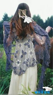 étole-crochet-dentelle