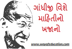 All About Gandhiji GPSC Study Material