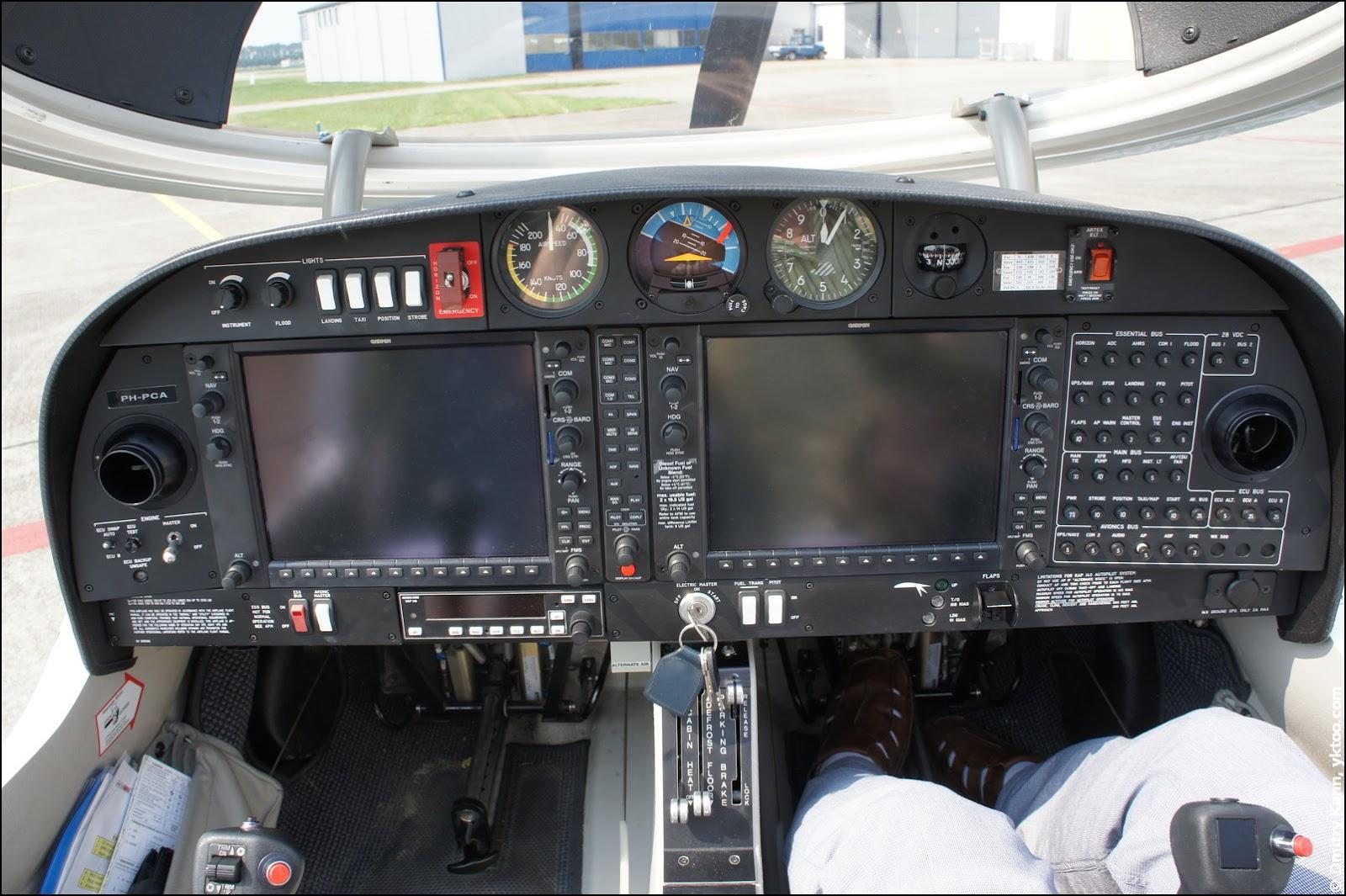 Modern DA40 dashboard.