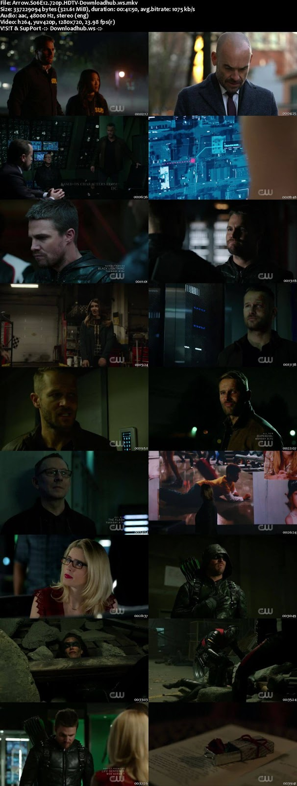 Arrow S06E12 320MB HDTV 720p x264