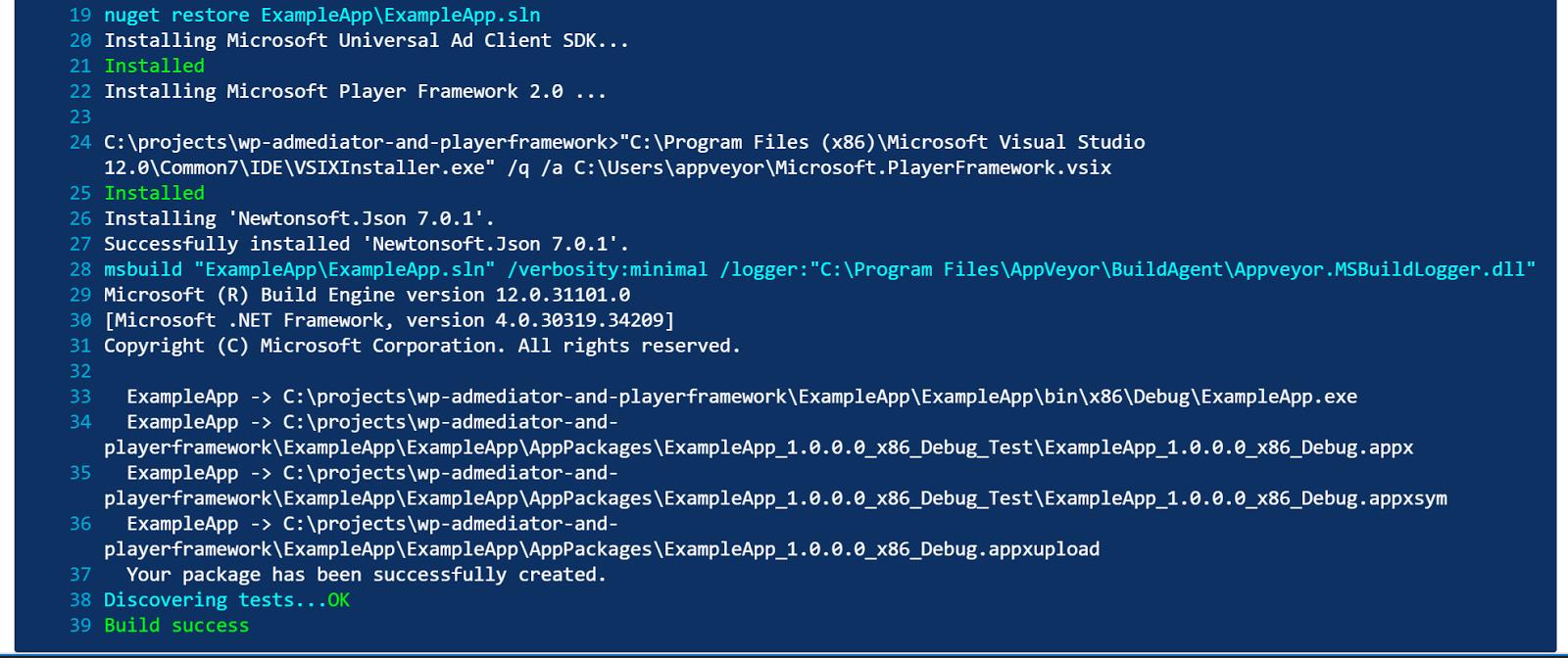 Damien Delaire />  NET Blog: Using AppVeyor CI to build a Windows