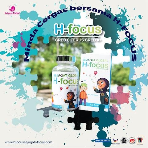 Formulasi H-Focus Kandungan Terbaik Dalam 1 Tablet H-Focus