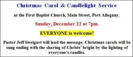 12-22 Christmas Carol & Candlelight Service
