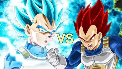 Perbandingan kekuatan Super Saiyan God dengan Super Saiyan Blue