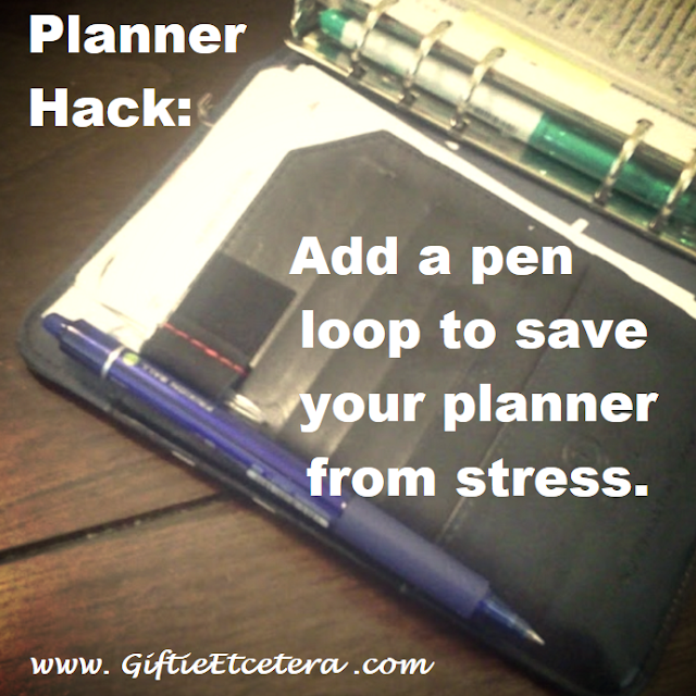 planner, pen loop, pen hack