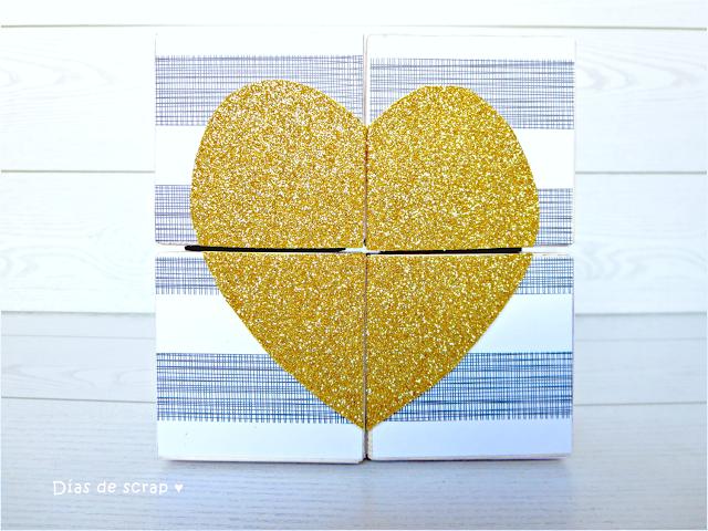 DIY Rompecabezas personalizado corazón