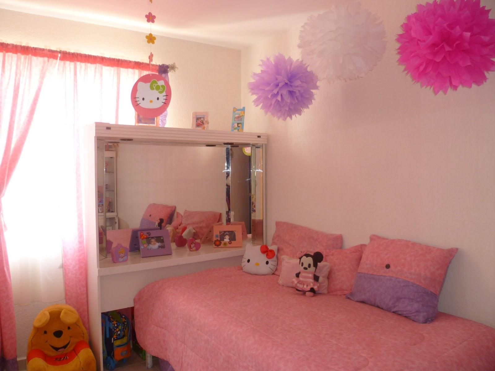 El jard n de mam pulpo decoraci n en cuartos con pompones - Decoracion de paredes de dormitorios ...