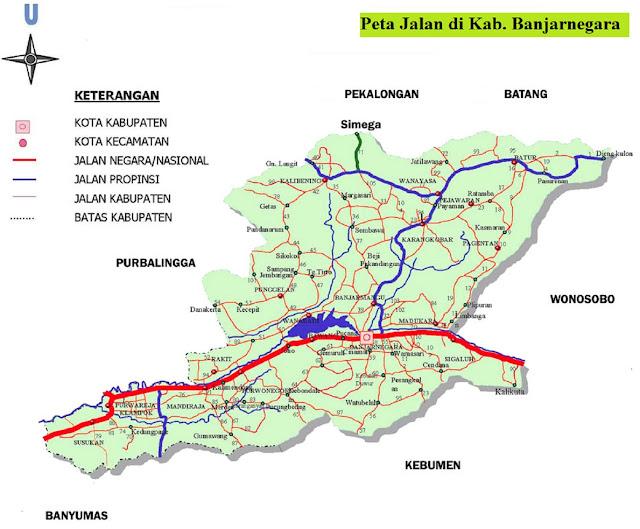 Peta Kabupaten Banjarnegara HD
