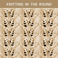 Eyelet Lace 41 in the round