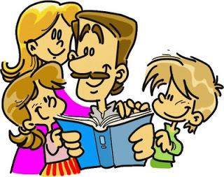 Dibujo de la familia (Padre e hijos) a colores