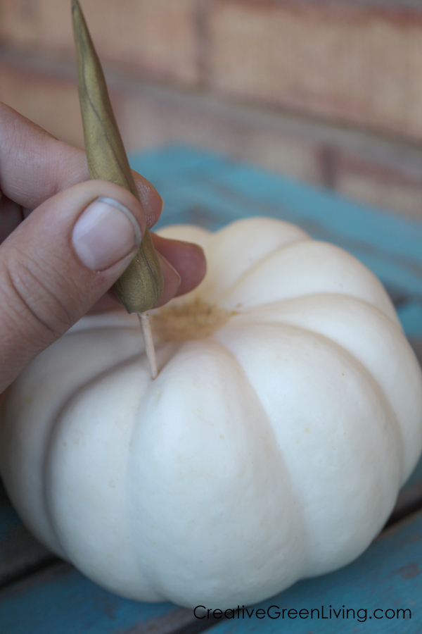 How to add a unicorn horn to a pumpkin