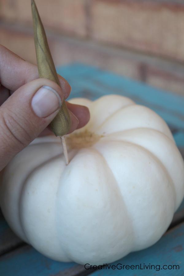 How to add a unicorn horn to a pumpkin